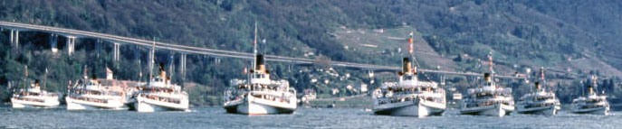 8 Paddle Steamers provide transportation on Switzerlands spectacular lakes.