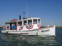 Mojo Navy Motor Launch on the Sacramento River Delta