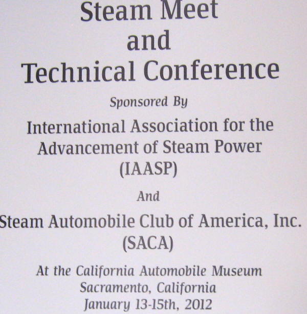 Steamcon I - Steam Technical Conference - SACA